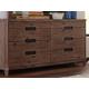 Coaster Donny Osmond Home Madeleine 6 Drawer Dresser in Smoky Acacia 203543