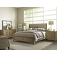 American Drew Evoke 4pc Upholstered Panel Bedroom Set in Barley