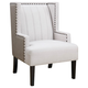 Coaster Donny Osmond Home Madeleine Wing Accent Chair in Light Beige 905132