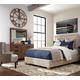 Coaster Donny Osmond Home Madeleine 4pc Upholstered Panel Bedroom Set in Beige