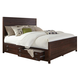 Coaster Donny Osmond Home Lanchester Queen Panel Storage Bed in Acacia Cocoa 204290Q