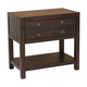 Coaster Donny Osmond Home Lanchester 1 Drawer Nightstand with Shelf in Acacia Cocoa 204297