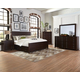 Coaster Donny Osmond Home Lanchester 4pc Panel Storage Bedroom Set in Acacia Cocoa