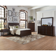 Coaster Donny Osmond Home Lanchester 4pc Panel Bedroom Set in Acacia Cocoa