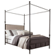 Coaster Donny Osmond Home Lanchester Queen Canopy Bed in Antique Bronze 300546Q