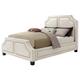 Coaster Donny Osmond Home Washbourne California King Upholstered Panel Bed in White 300547KW