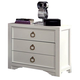 Coaster Donny Osmond Home Furiani 3 Drawer Nightstand in White 203352