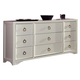 Coaster Donny Osmond Home Furiani 9 Drawer Dresser in White 203353