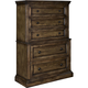 Broyhill Furniture Pike Place Chest on Chest in Oak 4850-240