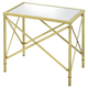 Coaster Donny Osmond Home Washbourne Glass Top Accent Table in Brass 901957