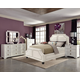 Coaster Donny Osmond Home Washbourne/Furiani 4pc Upholstered Panel Bedroom Set in White