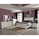 Coaster Donny Osmond Home Furiani 4pc Panel Bedroom Set in White