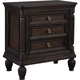 Broyhill Furniture Jessa 3 Drawer Night Stand-Wood Top in Acacia 4980-293