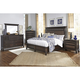 Broyhill Furniture Jessa 4-Piece Panel Bedroom Set in Acacia