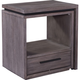 Broyhill Furniture Moreland Avenue Storm Shelter Nightstand in Acacia 5815-283