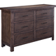 Broyhill Furniture Larimer Square Strong Box Drawer Dresser in Distressed 5915-235
