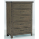 Broyhill Furniture Larimer Square Strong Box Drawer Chest in Distressed 5915-242