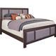 Broyhill Furniture Larimer Square Queen Upholstered Panel Bed in Distressed
