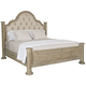 Bernhardt Campania King Upholstered Panel Bed in Weathered Sand