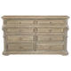 Bernhardt Campania 8 Drawer Dresser in Weathered Sand 370-042