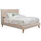 Alpine Furniture Britney Full Upholstered Platform Bed in Light Grey 1096F