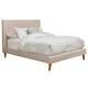 Alpine Furniture Britney California King Upholstered Platform Bed in Light Grey 1096CK