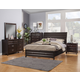 Alpine Furniture Legacy 4-Piece Storage Bed with Drawers Bedroom Set in Black Cherry