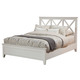 Alpine Furniture Potter Queen Panel Bed in White 955-01Q