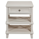 Alpine Furniture Potter 2 Drawer Nightstand in White 955-02