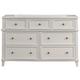 Alpine Furniture Potter 7 Drawer Dresser in White 955-03