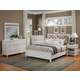 Alpine Furniture Potter 4pc Panel Bedroom Set in White