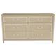Bernhardt Savoy Place 6 Drawer Dresser in Chanterelle 371-052