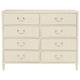 Bernhardt Savoy Place 8 Drawer Raffia Dresser in Ivory 371-040