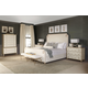 Bernhardt Savoy Place 4pc Upholstered Bedroom Set in Chanterelle