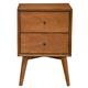 Alpine Furniture Flynn 2 Drawer Nightstand in Acorn 966-02