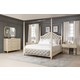 Bernhardt Savoy Place 4pc Upholstered Poster Bedroom Set with Canopy in Ivory