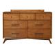 Alpine Furniture Flynn 7 Drawer Dresser in Acorn 966-03