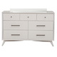 Alpine Furniture Flynn 7 Drawer Dresser in White 966-W-03