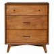 Alpine Furniture Flynn 3 Drawer Small Chest in Acorn 966-04