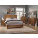 Alpine Furniture Flynn 4pc Panel Bedroom Set in Acorn