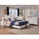 Alpine Furniture Flynn 4pc Panel Bedroom Set in White