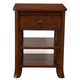 Alpine Furniture Baker 1 Drawer Nightstand in Mahogany 977-02