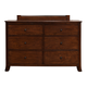 Alpine Furniture Baker 6 Drawer Dresser in Mahogany 977-03