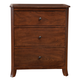 Alpine Furniture Baker 3 Drawer Small Chest in Mahogany 977-04