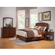 Alpine Furniture Baker 4pc Panel Bedroom Set in Mahogany