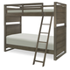Legacy Classic Kids Big Sky Twin Over Twin Bunk Bed in Weathered Oak 6810-8110K