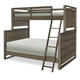 Legacy Classic Kids Big Sky Twin Over Full Bunk Bed in Weathered Oak 6810-8140K