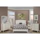 Alpine Furniture Baker 4pc Panel Bedroom Set in White