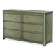Legacy Classic Kids Big Sky 6 Drawer Dresser in Weathered Oak 6810-1100