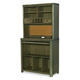 Legacy Classic Kids Big Sky High Top Desk with Hutch in Weathered Oak 6810-6100-6200